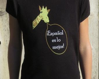 "Children's ""Spanish-loving giraffe"" t-shirt"