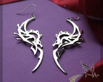 Earrings Dragon Jewelry | Art Sterling Silver