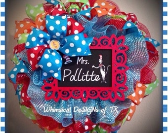 Dr. Seuss Teacher Appreciation Wreath