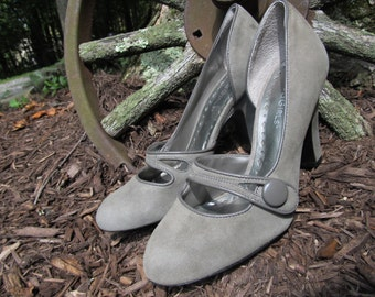 New Gray Leather Suede Shoes