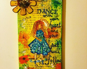 Dance mixed media painting
