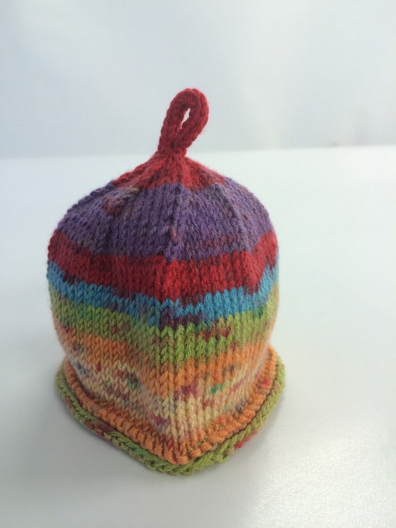 Sweet Rainbow Candy Newborn/Baby Hat