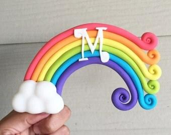 Rainbow Cloud Cake Topper Fondant and Gumpaste