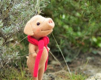 Charles-Henri pig wool felted