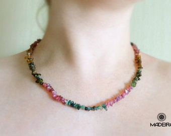 Necklace from natural tourmaline