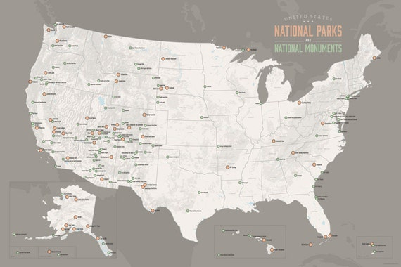 products national parks monuments poster