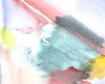 Thaw, watercolor, Watercolor-print hard copy
