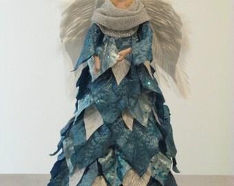 Beautiful Blue Angel Tree Topper