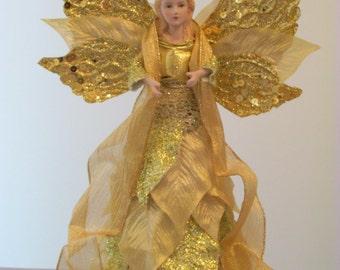 Beautiful Gold Angel Tree Topper