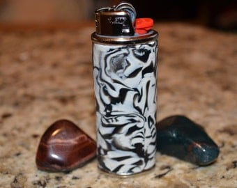 Black and White Hand Made Full Size Bic Lighter Cover Case holder ~SALE~ 30% OFF