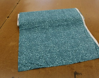 Dusty Teal on Teal Quilting Fabric By The Yard