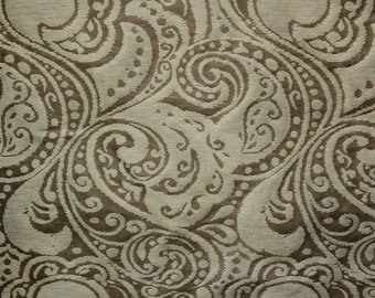 Taupe and Gray Swirl Drapery Fabric