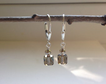 Bronze Shade Crystal Earrings