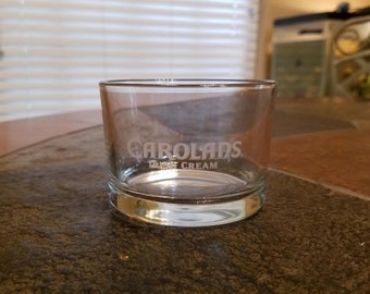 CAROLANS Irish Cream whiskey glass