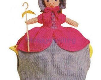 bo peep tea pot  knitting pattern 99p pdf