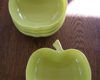4 X Vintage Hazel Atlas Apple Bowls