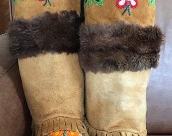 Vintage Mukluks // Native Mukluks // Native Bead Work