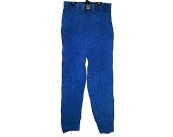 Vintage Acid Wash Pants by EZZE WEAR Soft Pants Parachute Pants Hammer Pants Soft Grunge Saved By The Bell Fresh Prince Blue Size Medium