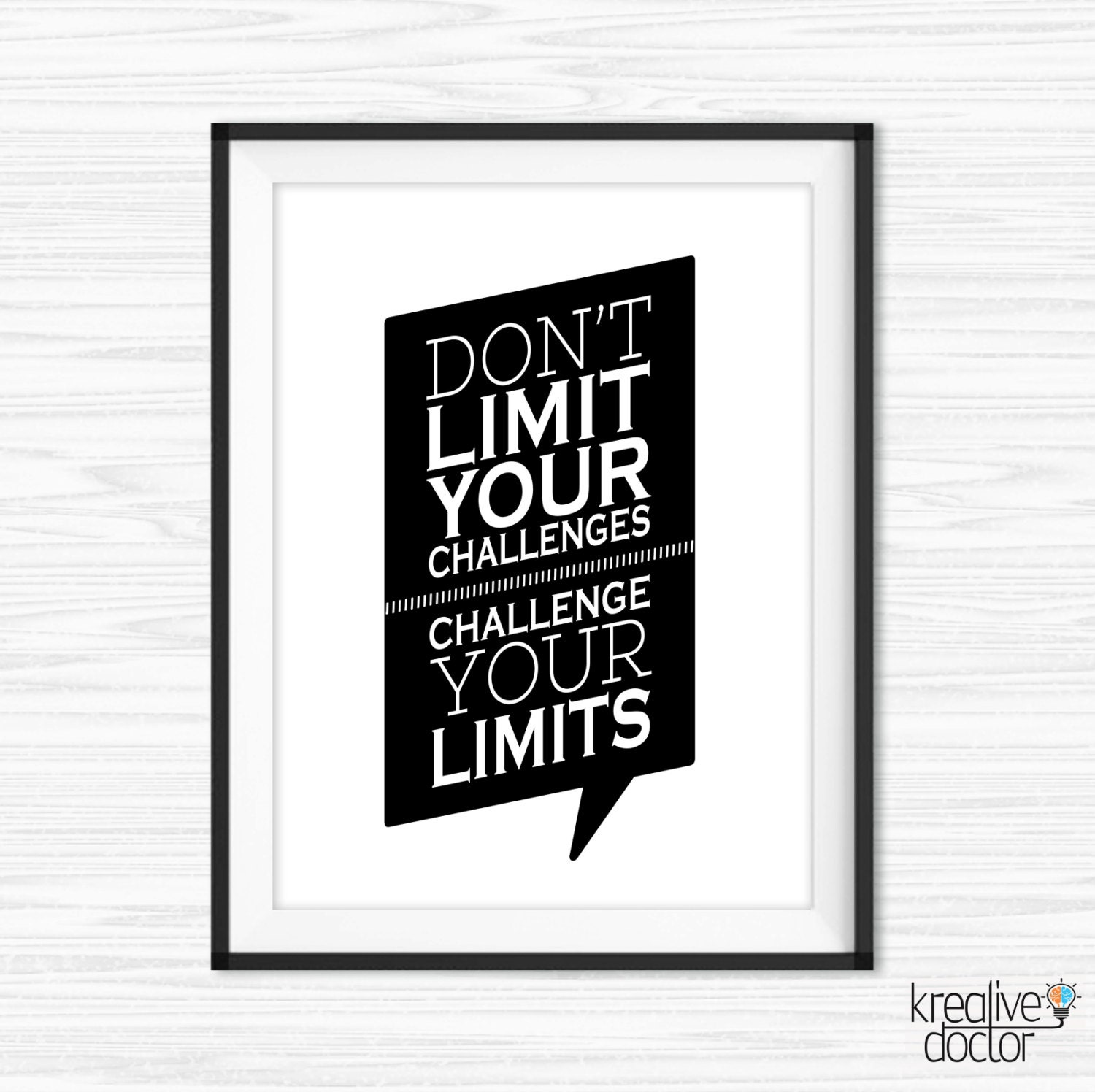 Wall Art For Your Office : Office wall art challenge your limits quote cubicle decor