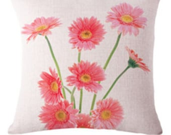 Flowers Pillow Cover- excluding Insert