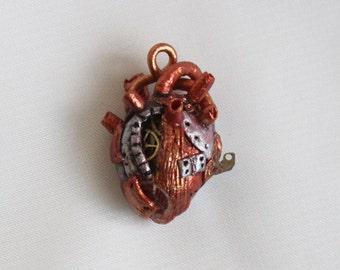 Handmade realistic style steampunk heart