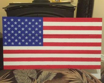 Pallet wood flag of USA
