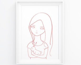 Printable art   Nursery art   Instant download   Printable illustration   Kid's wall art   Digital print