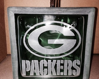 Green bay packers glass block