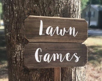 Lawn Games Sign, Yard Games Sign, Barn Wood Signs, Rustic Wood Signs, Rustic Wooden Signs, Wedding Signs Wood, Rustic Wedding Signs