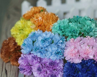 5 bouches Artificial Silk Flowers,6 blooms Flowers for Wedding Centerpieces Supplies,Decorations Supplies(153-6)