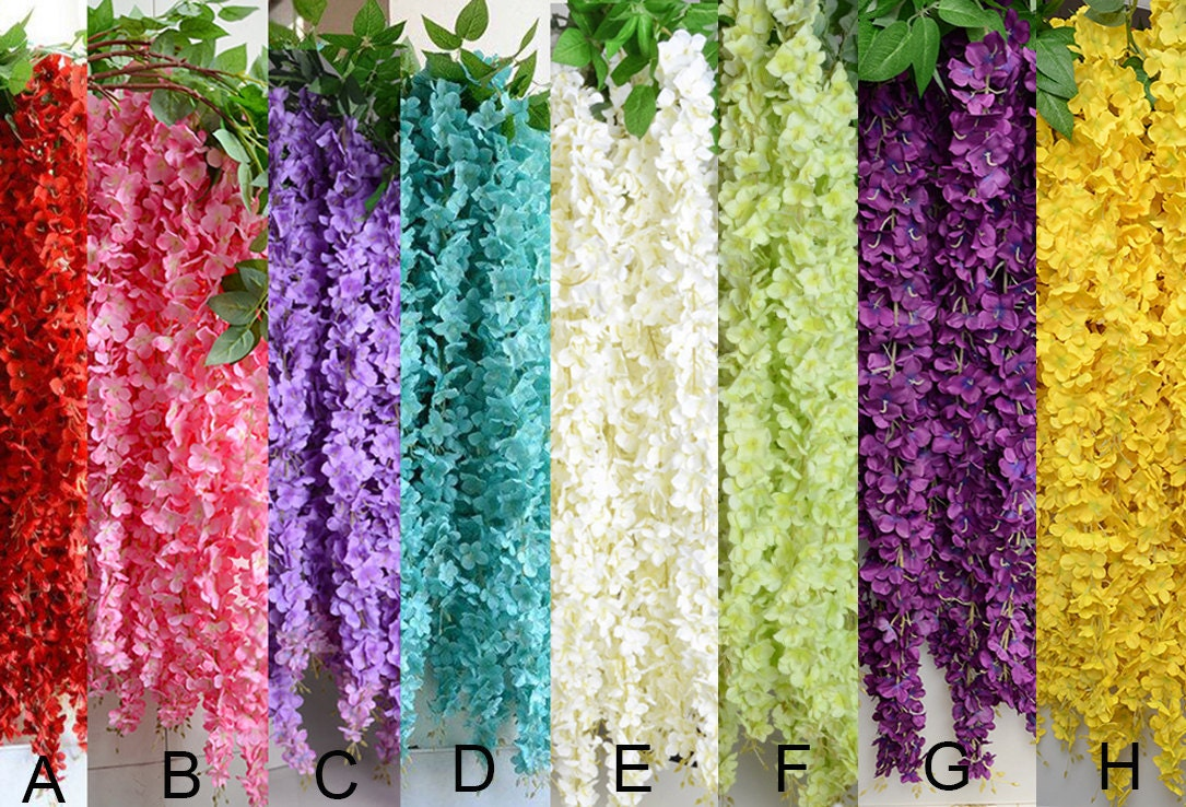 1 Piece Artificial Silk Wisteriahome Garden Hanging Flower