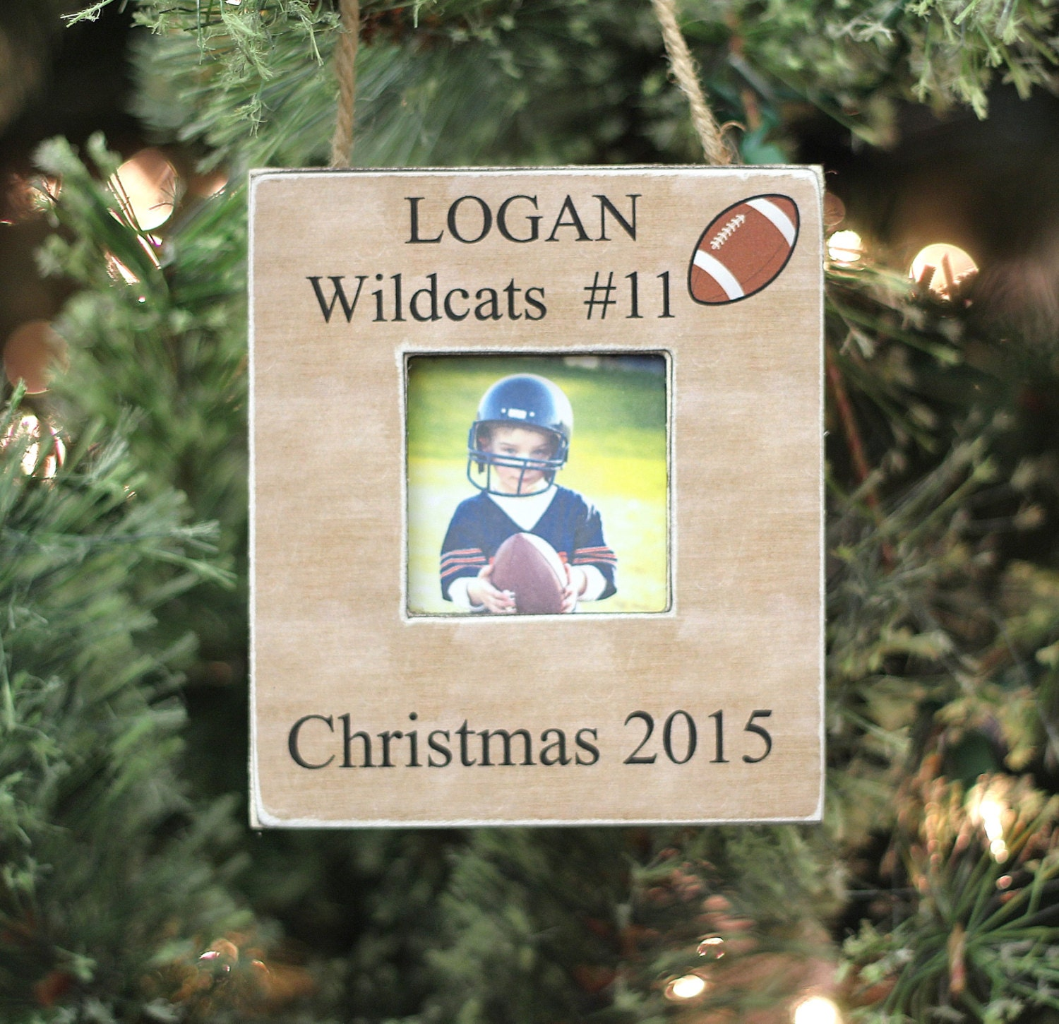 Football player ornament - Football Ornament Christmas Gift Personalized Photo Ornament For Football Player Team Christmas Holiday Gift