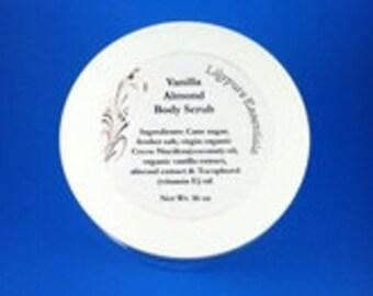 Vanilla Almond Body Scrub 16 oz