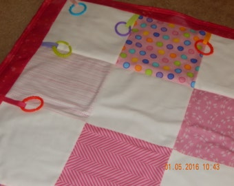 Tummy Time PlayMat/NapMat Set, Activity Mat - Pretty in Pink!