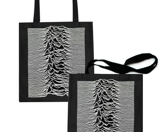 unknown pleasures tote bag joy division ian curtis love will tear us apart closer