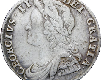 Great Britain 1732 Sixpence George II Coin Silver