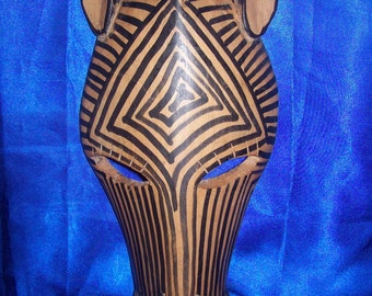 Wooden African Zebra Mask