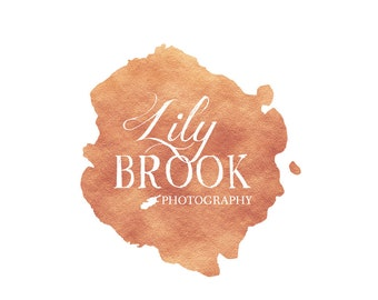 Pre made logo design | Photographer Branding Logo | Photography Logo | Rose gold logo | Premade Logo Design | Watermark