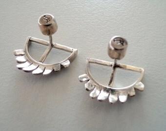 Angel guard earrings |Guardian angel earrings |Guard me jewelry |925 sterling silver Earrings |Handmade silver earrings