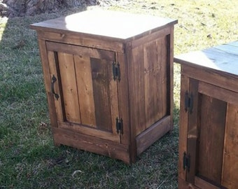 Rustic nightstand/ end table