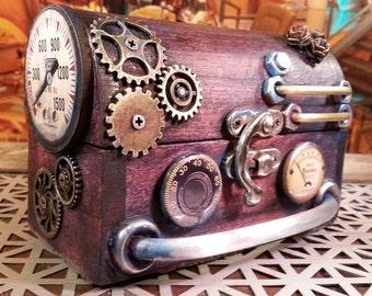 Steampunk inspired Ring Box