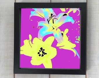 Abstract Lilies II Print