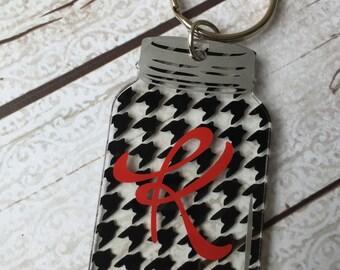 Quatrefoil Mason Jar Keychain by SandyKsCustomDesigns on Etsy