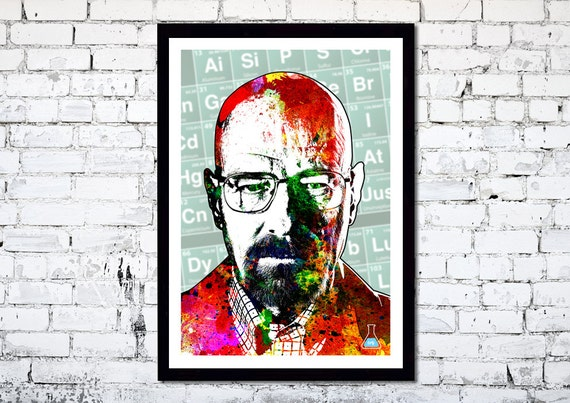 Breaking Bad // Walter White // Heisenberg // A4 / A3 Unique Art Print