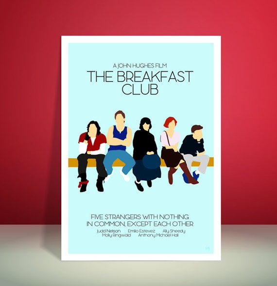 The Breakfast Club // Minimalist Movie Poster // Unique A4 / A3 Art Print