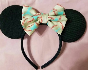 Baseball Minnie Ears