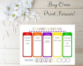 Food Diary - Health Planner - Meal Planner Journal - Fitness Planner -  Planner Insert - Food Journal - Health Journal - Planner Accessories