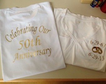 Golden Anniversary Shirt, 50th Anniversary