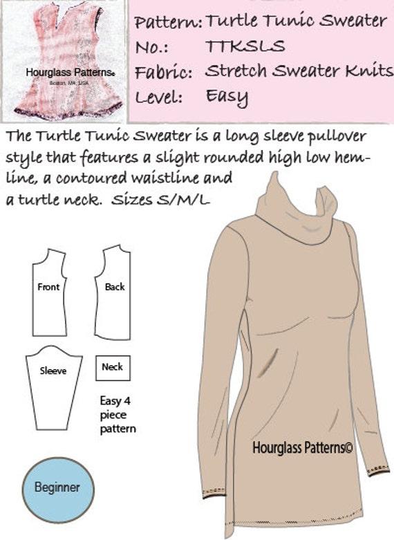 Hourglass Patterns©-Turtle Tunic Long Sleeve Sweater ...