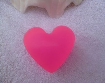 Pink Heart Glycerin Soap. Valentines Day Soap. Mothers Day Soap.